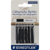 Black - Calligraphy Pen Ink Refills 12/Pkg