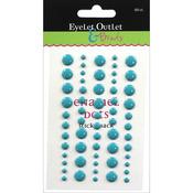 Blue - Eyelet Outlet Adhesive-Back Enamel Dot 60/Pkg