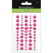 Dark Pink - Eyelet Outlet Adhesive-Back Enamel Dot 60/Pkg