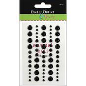 Black - Eyelet Outlet Adhesive-Back Enamel Dot 60/Pkg