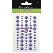 Purple - Eyelet Outlet Adhesive-Back Enamel Dot 60/Pkg