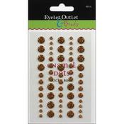 Gold - Eyelet Outlet Adhesive-Back Enamel Dot 60/Pkg