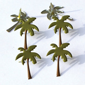 Palm Trees #2 - Eyelet Outlet Shape Brads 12/Pkg