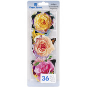 Garden - Paper House Die-Cut Stickers 36/Pkg