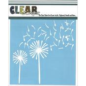 "Dandelion Wind - Clear Scraps Stencils 6""X6"""