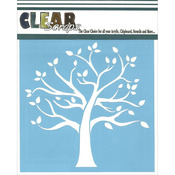 "Family Tree - Clear Scraps Stencils 6""X6"""