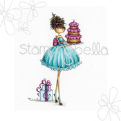 Uptown Girl Ava Loves To Celebrate - Stamping Bella Cling Rubber Stamp