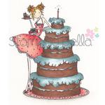 Uptown Girl Bianca Loves Her Big Cake - Stamping Bella Cling Rubber Stamp
