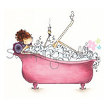 Uptown Girl Bubbles Loves Her Bubbly - Stamping Bella Cling Rubber Stamp