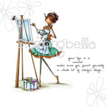 Uptown Girl Abigail The Artist - Stamping Bella Cling Rubber Stamp