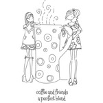 Uptown Girls Clarissa & Camille - Stamping Bella Cling Rubber Stamp