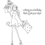 Uptown Girl Posh Has A Present - Stamping Bella Cling Rubber Stamp