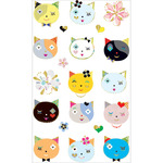 Cats Frilly Faces Stickers - Mrs. Grossman's