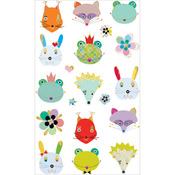 Woodland Frilly Faces Stickers - Mrs. Grossman's