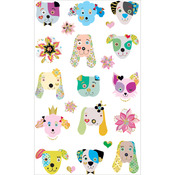 Dogs Frilly Faces Stickers - Mrs. Grossman's