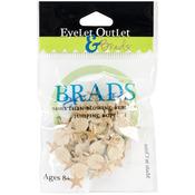 Corner Shell - Eyelet Outlet Shape Brads 12/Pkg