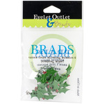 Holly - Eyelet Outlet Shape Brads 12/Pkg