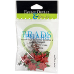 Poinsettia - Eyelet Outlet Shape Brads 12/Pkg