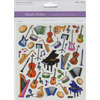 School Band - Dazzle Clear Stickers MULTICRAFT IMPORTS-Dazzle Clear Stickers. A great idea for your next scrapbooking project! This package contains multiple stickers on one 6-1/5-7/8 inch sheet. Comes in a variety of themes. Each sold separately. Acid free. Imported.