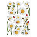 "Daisies - Glitter Foil Stickers 5""X7.25"" Sheet"