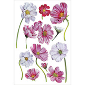 "Magnolias - Glitter Foil Stickers 5""X7.25"" Sheet"