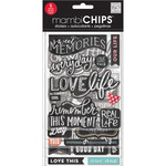 Sweet Memories Chipboard Value Pack - Chalk Stickers