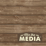 "6""X6"" - Mix The Media Wooden Plank Plaque"