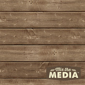 "8""X8"" - Mix The Media Wooden Plank Plaque"