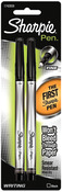 Black - Sharpie Fine Point Writing Pens 2/Pkg
