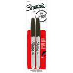 Sharpie Fine Point Permanent Markers 2/Pkg - Black