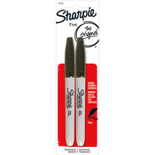 Sharpie Fine Point Permanent Markers 2/Pkg - Black
