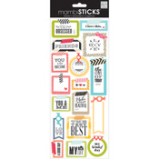 Washi Tape Shapes - Sayings Stickers