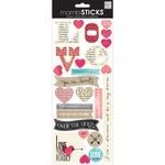 Love Newsprint - Sayings Stickers - Me & My Big Ideas