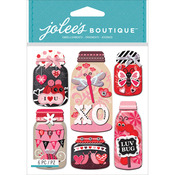 Lovebug Mason Jars - Jolee's Boutique Dimensional Stickers