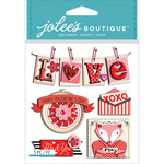 Valentine Words - Jolee's Boutique Dimensional Stickers