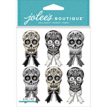 Black & White Skulls - Jolee's Mini Repeats Stickers