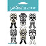 Black & White Skulls - Jolee's Mini Repeats Stickers