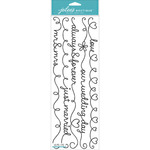 Wedding Words Black Borders - Jolee's Boutique Stickers