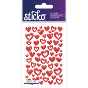 Red Hearts - Sticko Valentine's Day Stickers