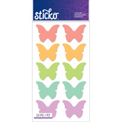 Bright Butterfly Label Stickers - Sticko Stickers