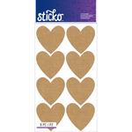 Burlap Hearts - Sticko Label Stickers