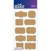 Burlap Frames - Sticko Label Stickers