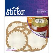 Burlap Mason Jar Labels - Sticko Label Stickers