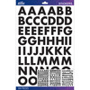 Black Futura Bold Large Sticko Alphabet Stickers