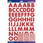 Red Futura Bold Large Sticko Alphabet Stickers
