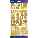 Gold Foil Motter Medium - Sticko Alphabet Stickers