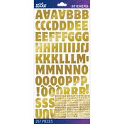 Gold Foil Motter Medium - Sticko Alphabet Stickers