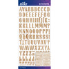 Wood Grain Blanc Small - Sticko Alphabet Stickers