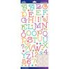 Multi Gasoline Alley Glitter - Sticko Alphabet Stickers