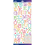Multi Gasoline Alley Glitter - Sticko Alphabet Stickers